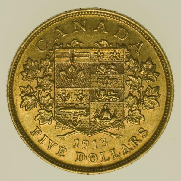 kanada - Kanada Georg V. 5 Dollars 1913