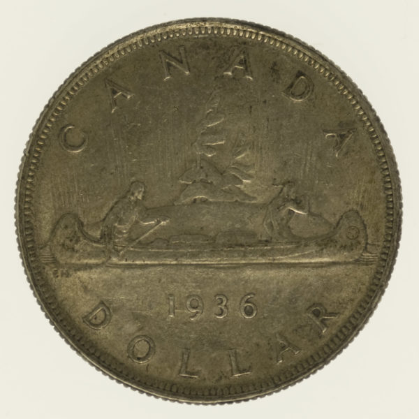 kanada-silbermuenzen-uebrige-welt - Kanada Georg V. Dollar 1932