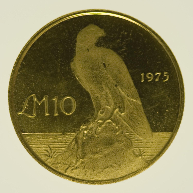 malta-goldmuenzen-uebriges-europa - Malta 10 Pounds 1975