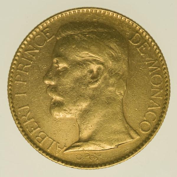 monaco - Monaco Albert I. 100 Francs 1896