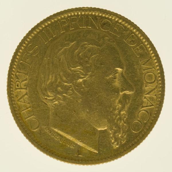 monaco - Monaco Charles III. 100 Francs 1884