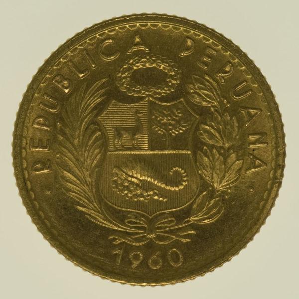 peru - Peru 10 Soles 1960