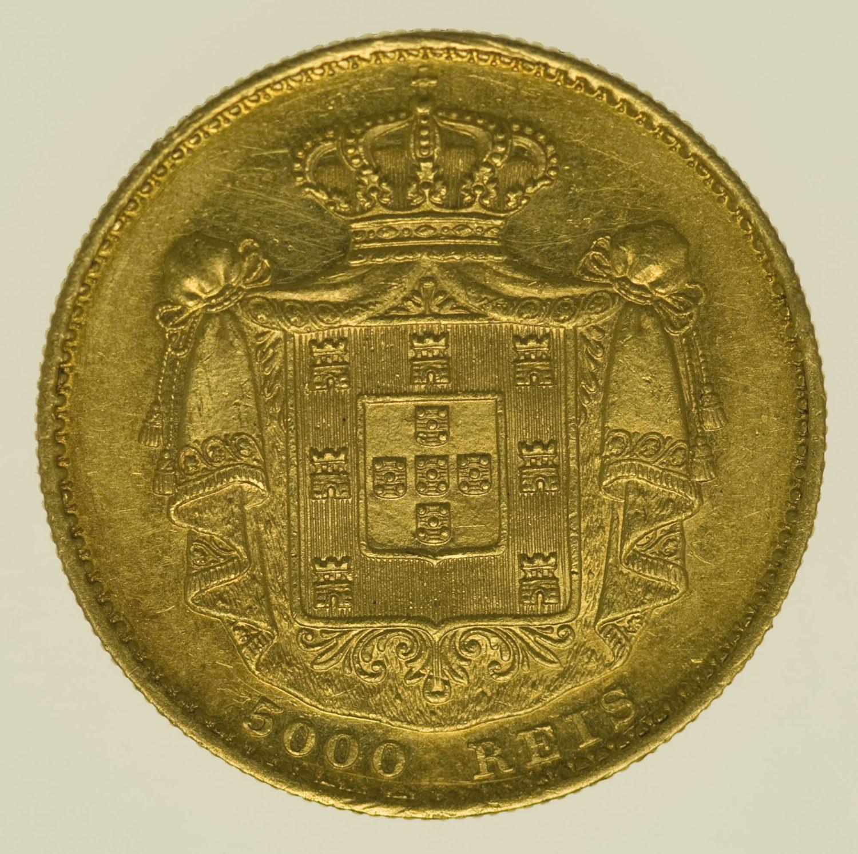 portugal - Portugal Ludwig I. 5000 Reis 1869