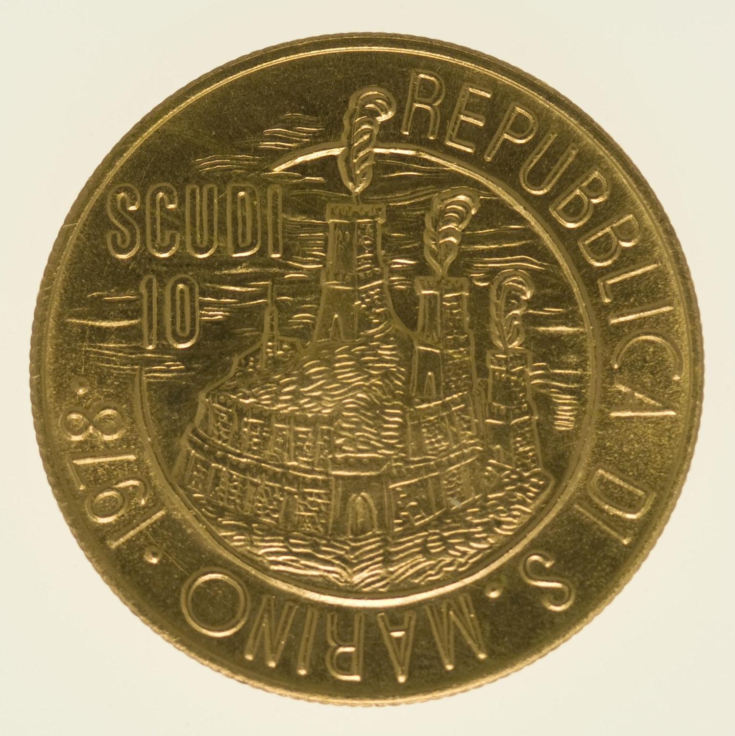 san-marino - San Marino 10 Scudi 1978