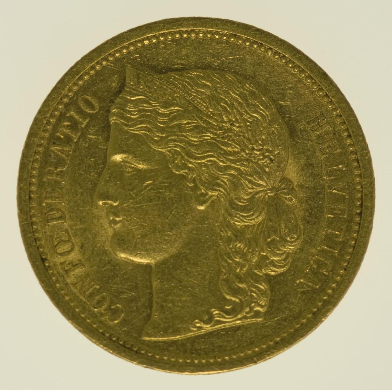 schweiz - Schweiz 20 Franken 1883 Helvetia