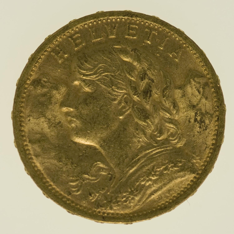 schweiz - Schweiz 20 Franken 1905 Vreneli