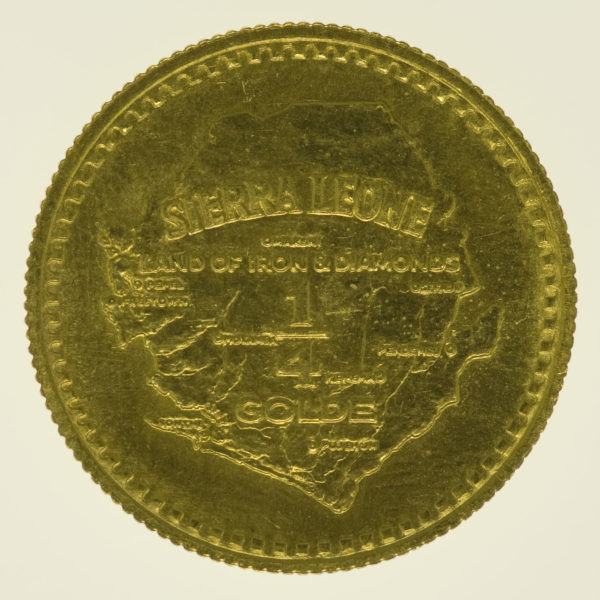 sierra-leone - Sierra Leone 1/4 Golde 1966