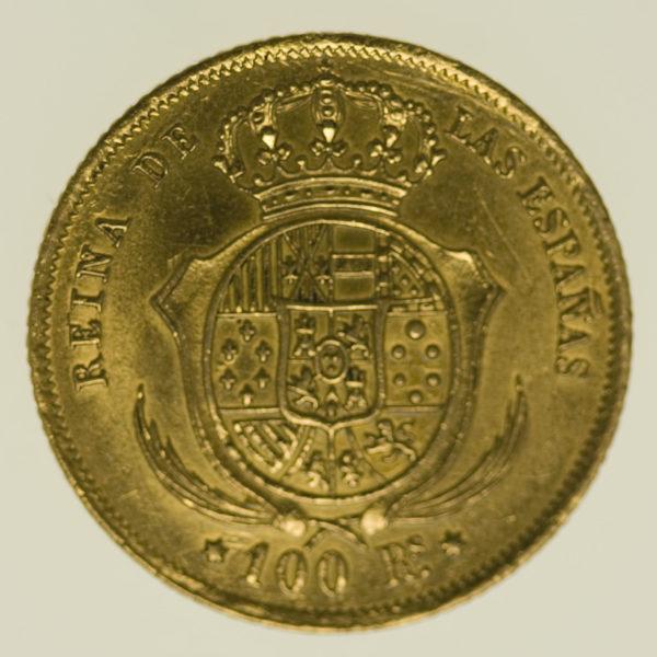 spanien - Spanien Isabel II. 100 Reales 1861