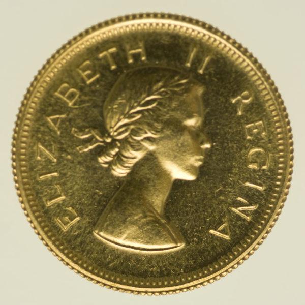 suedafrika - Südafrika Elisabeth II. 1/2 Pound 1954