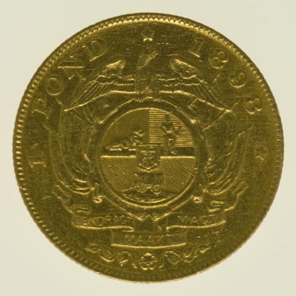 suedafrika - Südafrika 1 Pond 1898