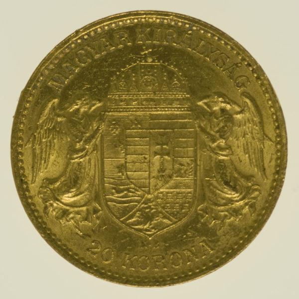 ungarn - Ungarn Franz Joseph I. 20 Kronen 1912