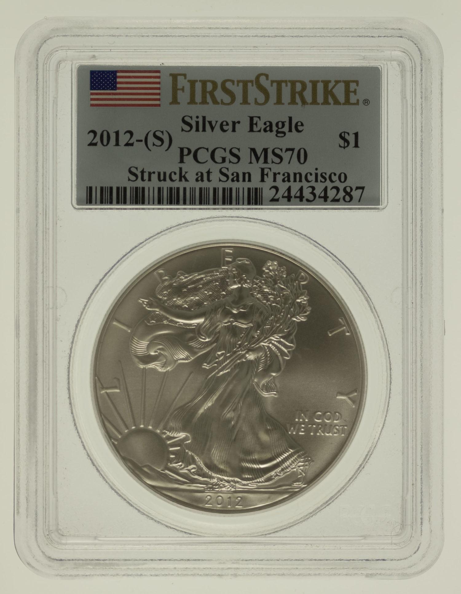 usa-silbermuenzen-uebrige-welt - USA Dollar 2012 American Eagle
