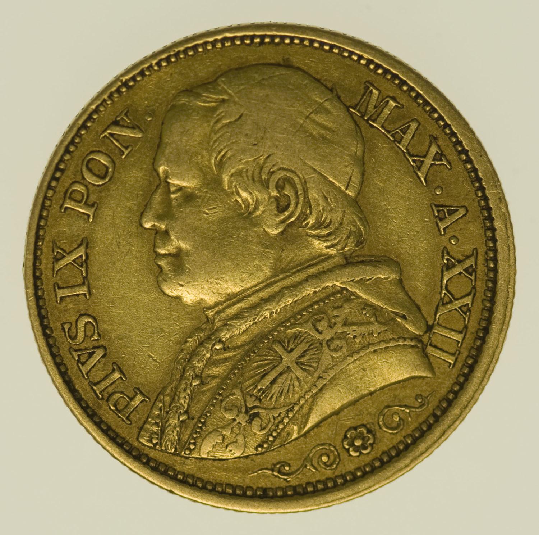 vatikan - Vatikan Pius IX. 20 Lire 1867
