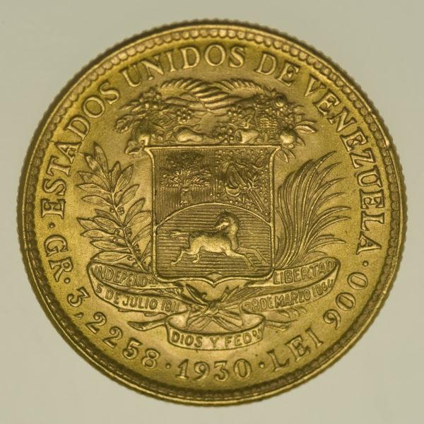 venezuela - Venezuela 10 Bolivares 1930