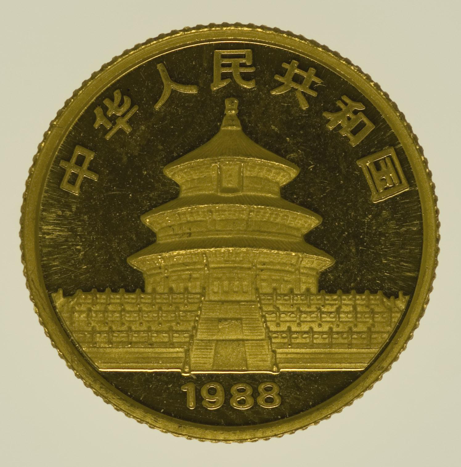 china - China Panda 1/10 Unze 1988
