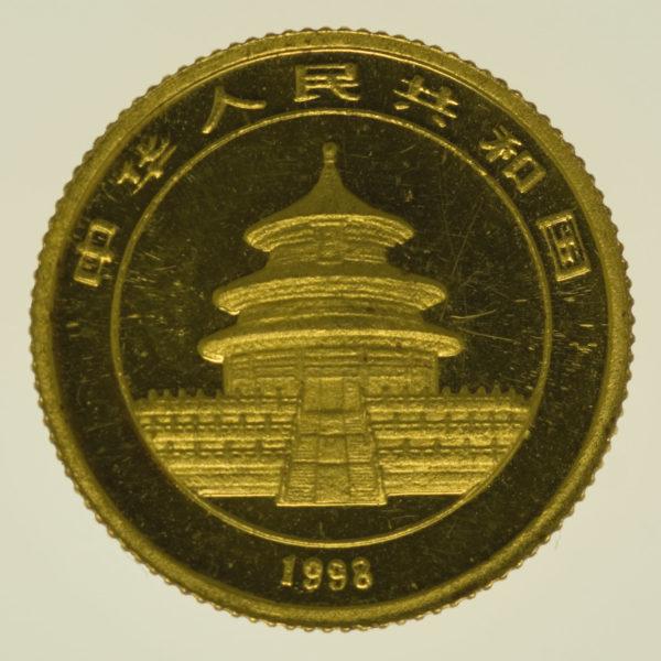 china - China Panda 1/10 Unze 1998