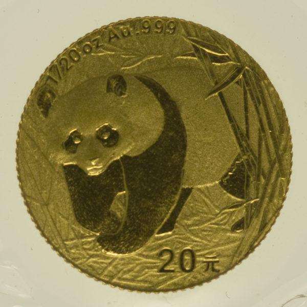 china - China Panda 1/20 Unze 2001