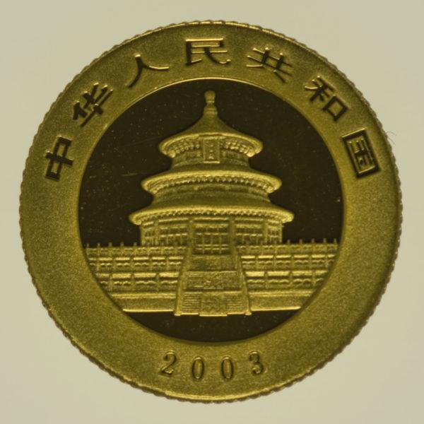 china - China Panda 1/20 Unze 2003