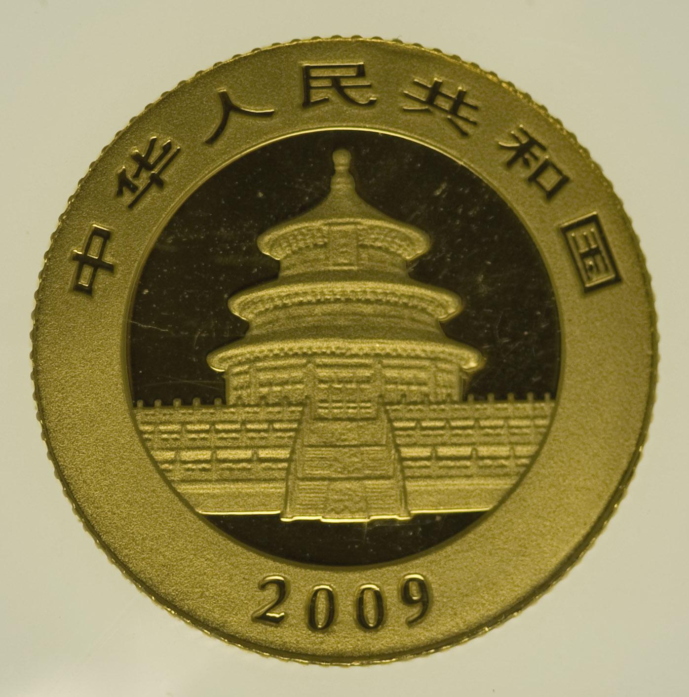 china - China Panda 1/20 Unze 2009