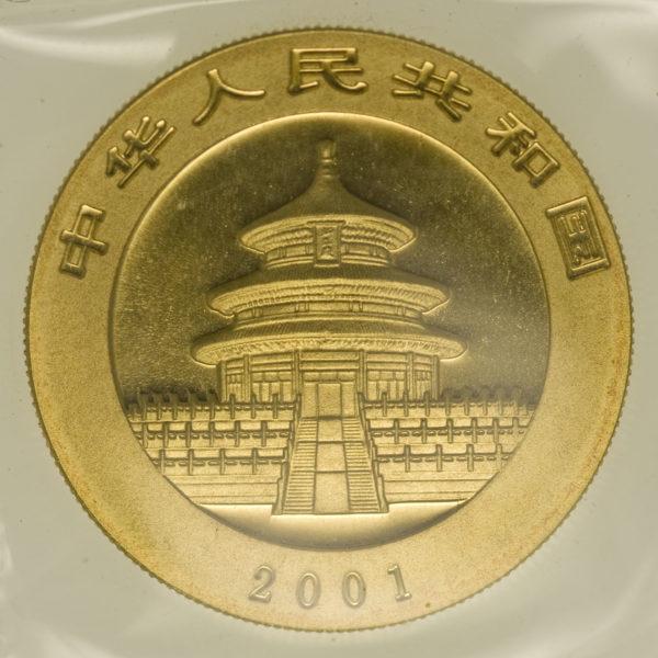 china - China Panda 1 Unze 2001