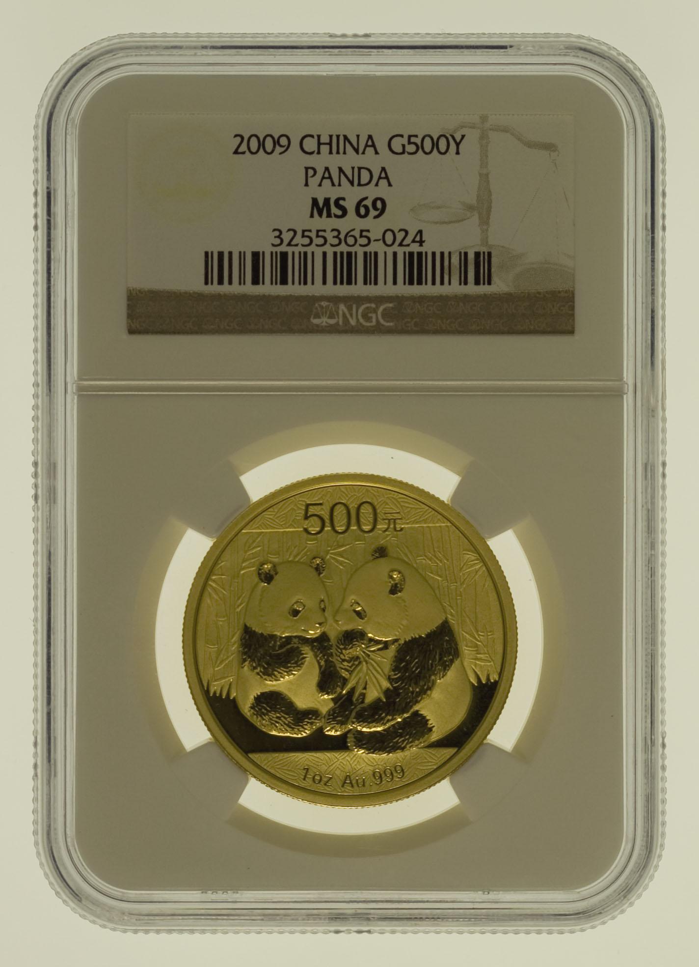 china - China Panda 1 Unze 2009