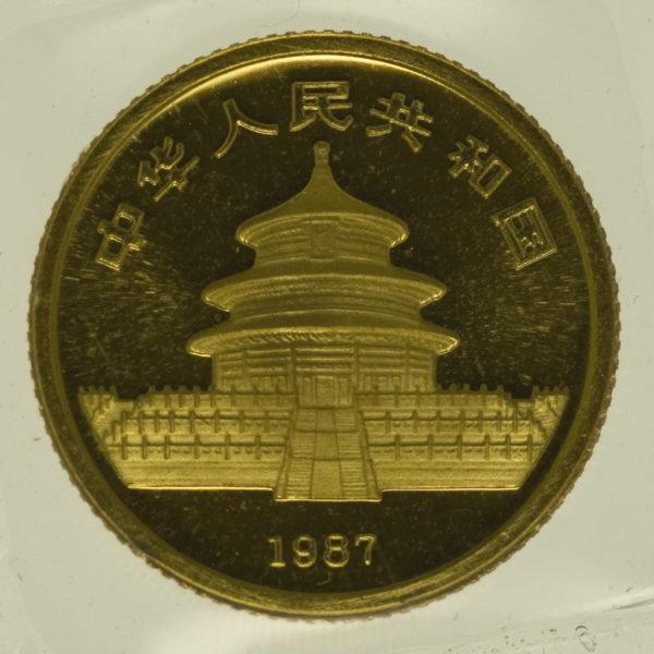 china - China Panda 1/20 Unze 1987