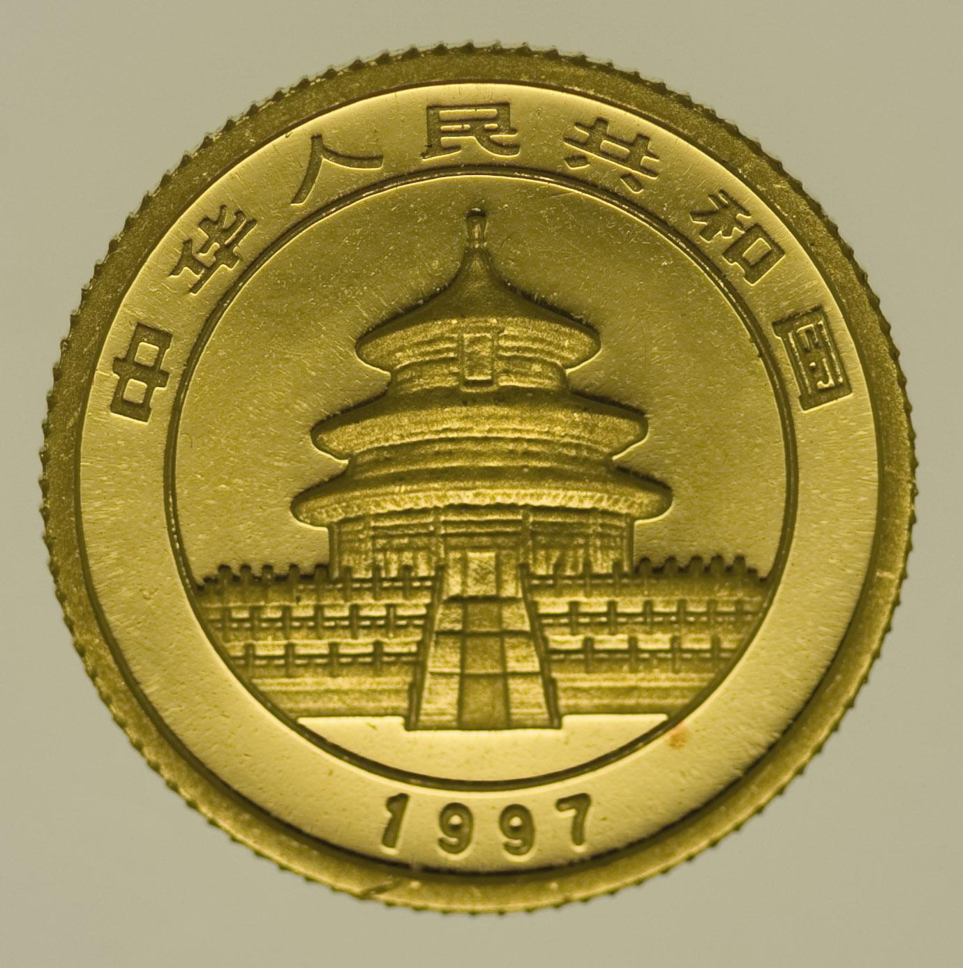 china - China Panda 1/20 Unze 1997