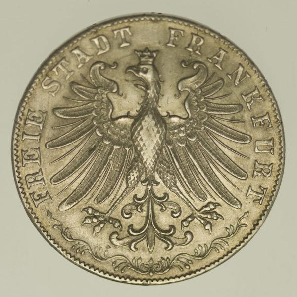 altdeutschland-deutsche-silbermuenzen - Frankfurt Stadt Doppelgulden 1855