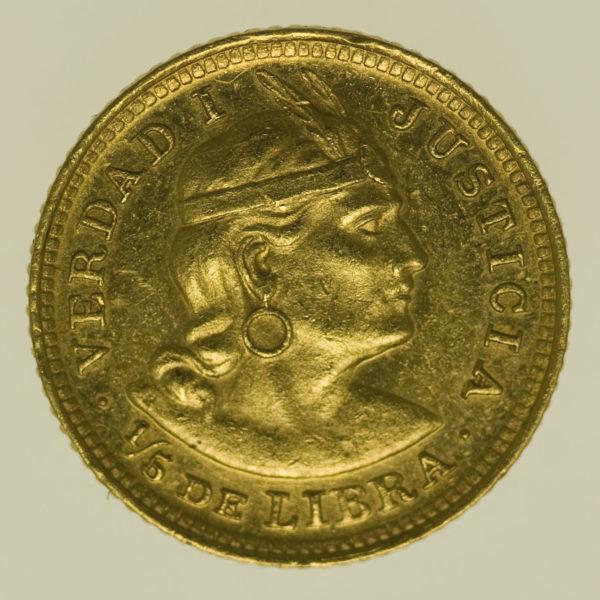 peru - Peru 1/5 Libra 1918