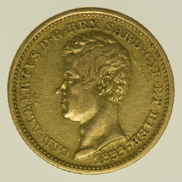 italien - Italien Sardinien Karl Albert 10 Lire 1833