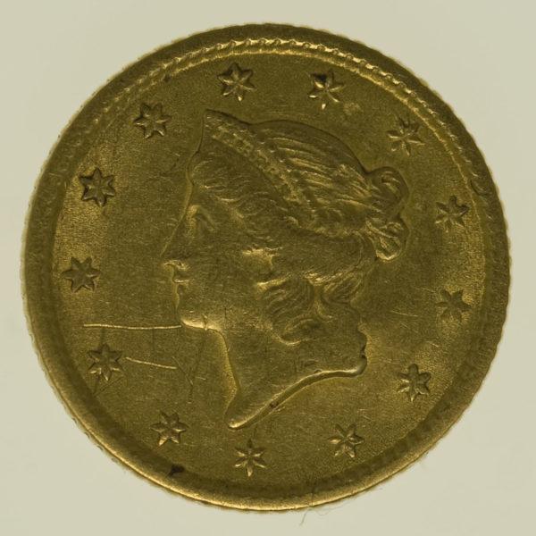 usa - USA 1 Dollar 1853 Liberty / Kopf
