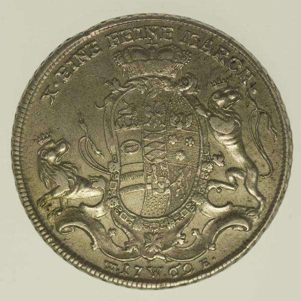 altdeutschland-deutsche-silbermuenzen - Löwenstein Wertheim Rochefort Karl Thomas Taler 1769