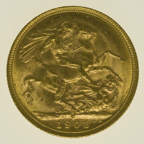 australien - Australien Edward VII. Sovereign 1908 M