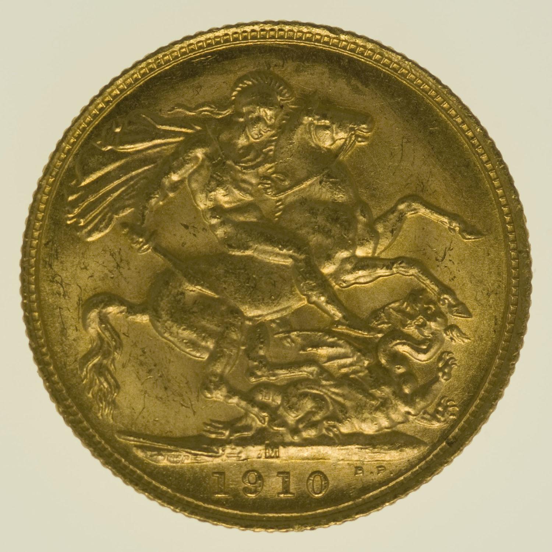 australien - Australien Edward VII. Sovereign 1910 M