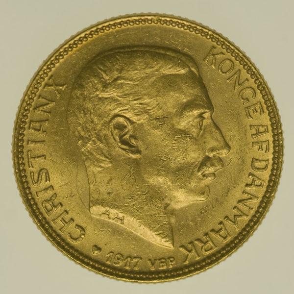 daenemark - Dänemark Christian X. 20 Kronen1917