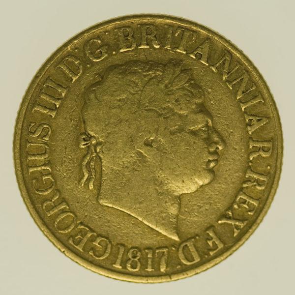 grossbritannien - Großbritannien Georg III. Sovereign 1817