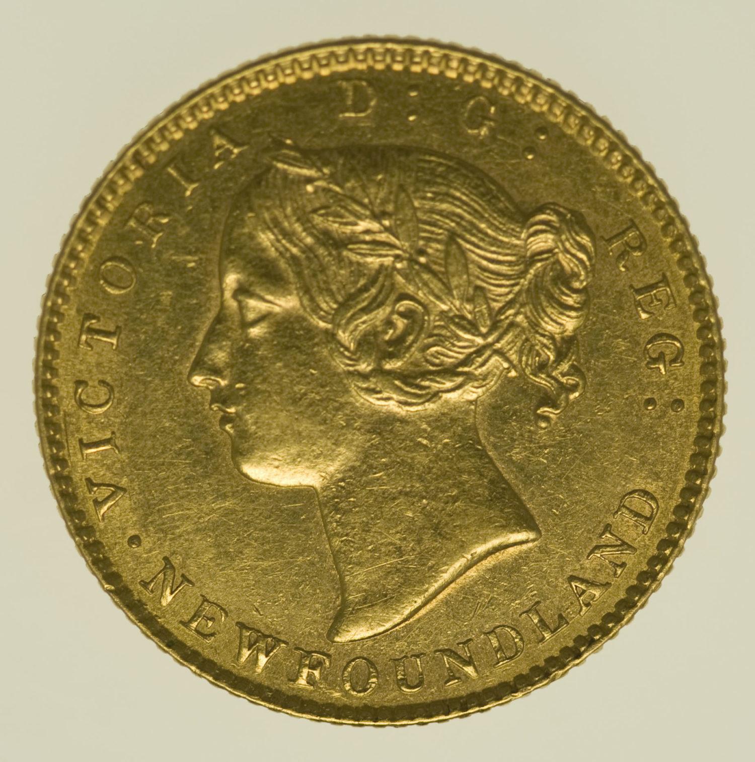 neufundland, kanada - Kanada Neufundland Victoria 2 Dollars 1885