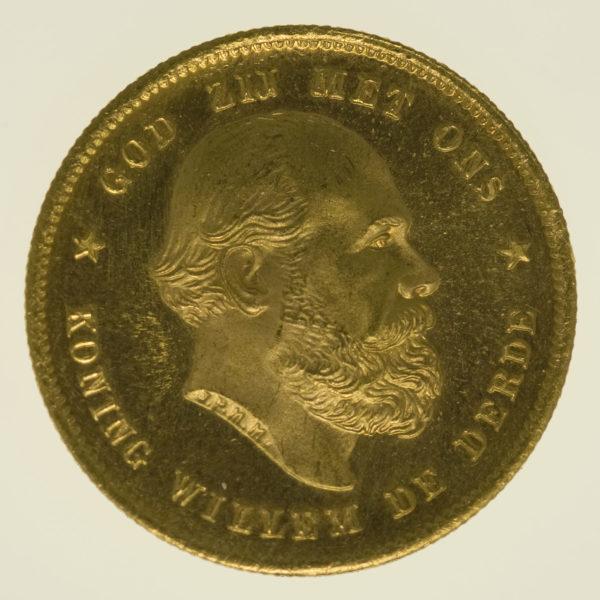 niederlande - Niederlande Wilhelm III. 10 Gulden 1880
