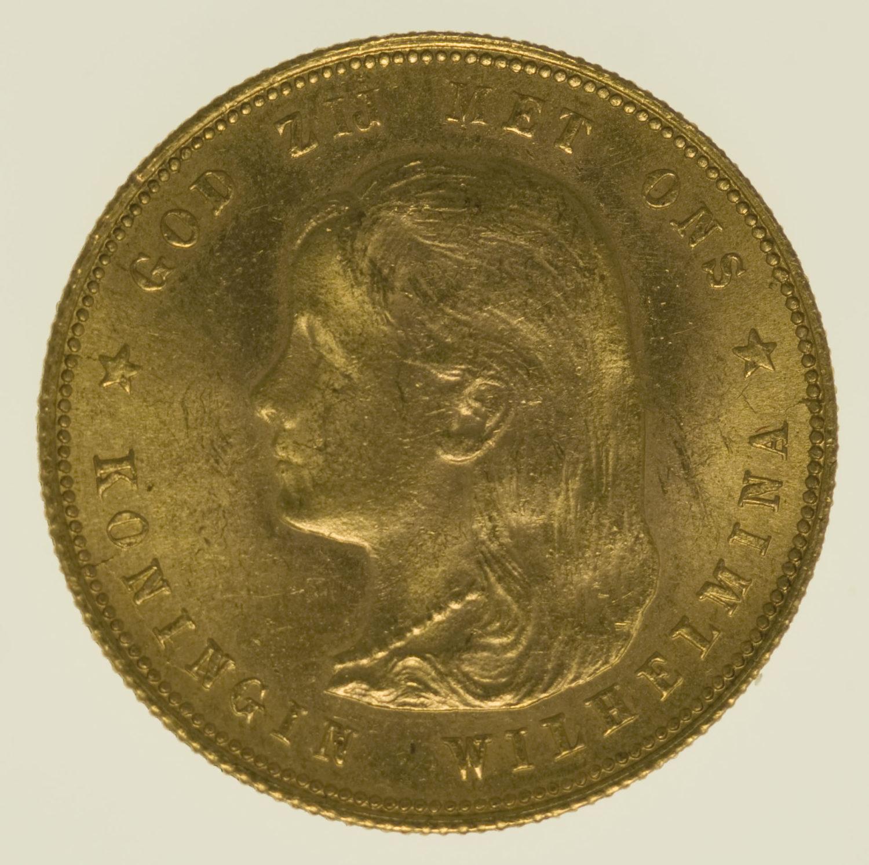 niederlande - Niederlande Wilhelmina 10 Gulden 1897
