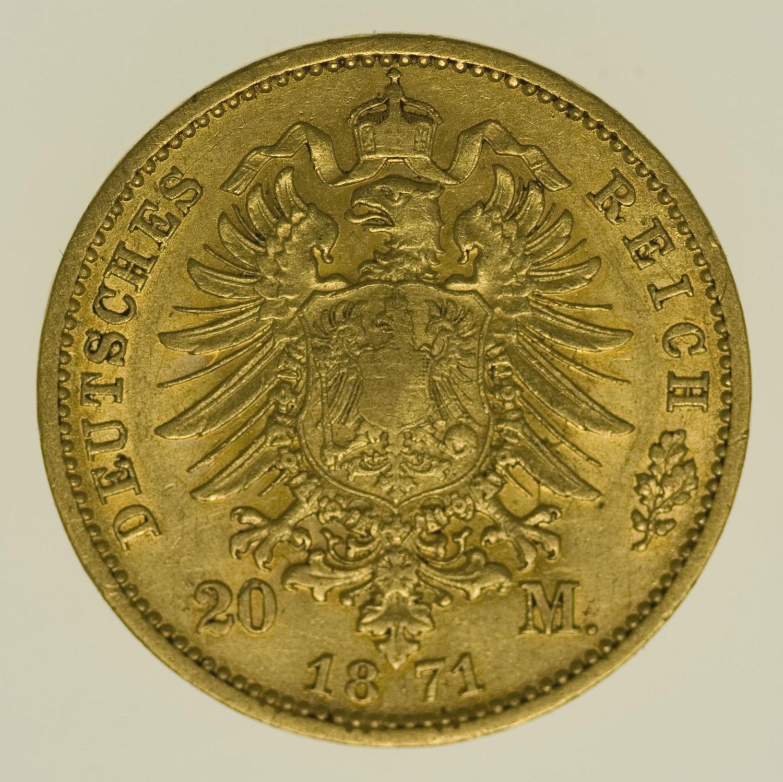 deutsches-kaiserreich-ab-1871 - Preussen Wilhelm I. 20 Mark 1871