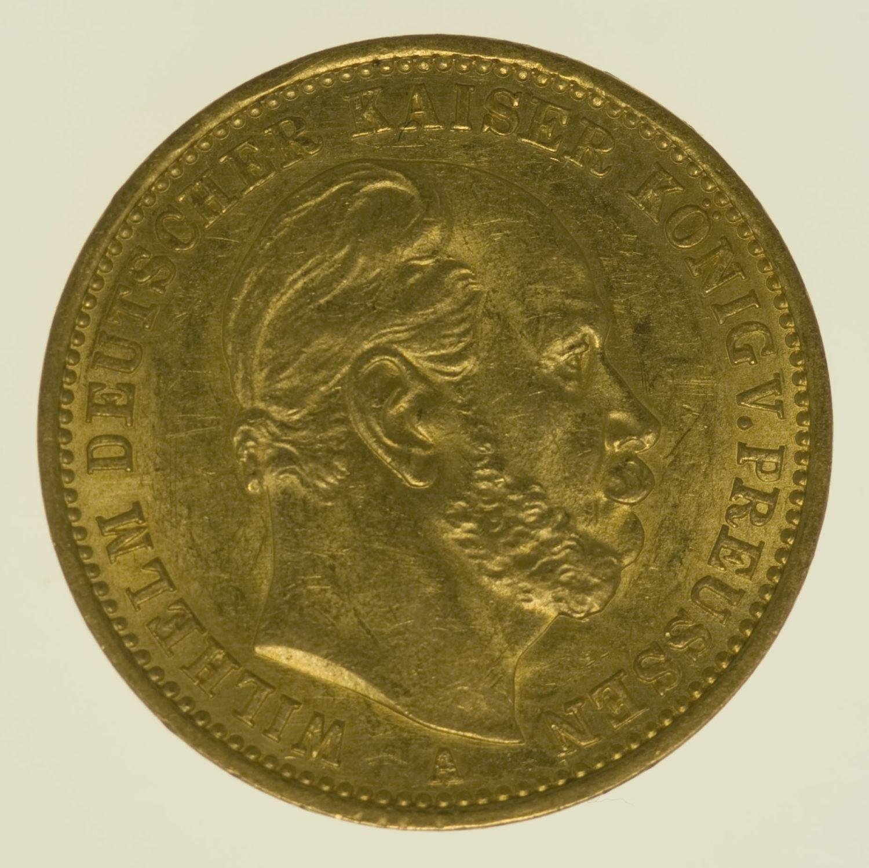 deutsches-kaiserreich-ab-1871 - Preussen Wilhelm I. 20 Mark 1878 A