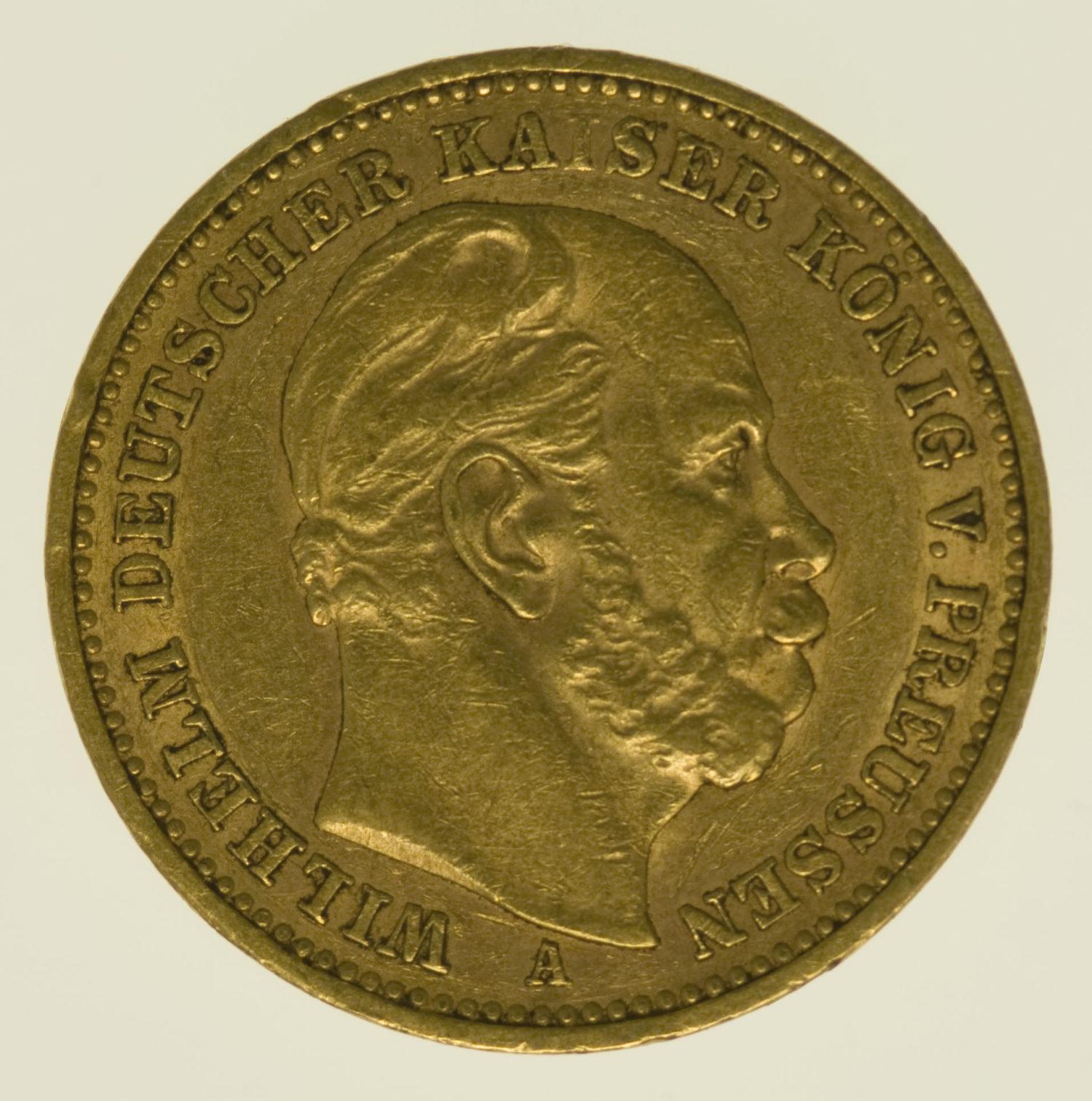 deutsches-kaiserreich-ab-1871 - Preussen Wilhelm I. 20 Mark 1888 A