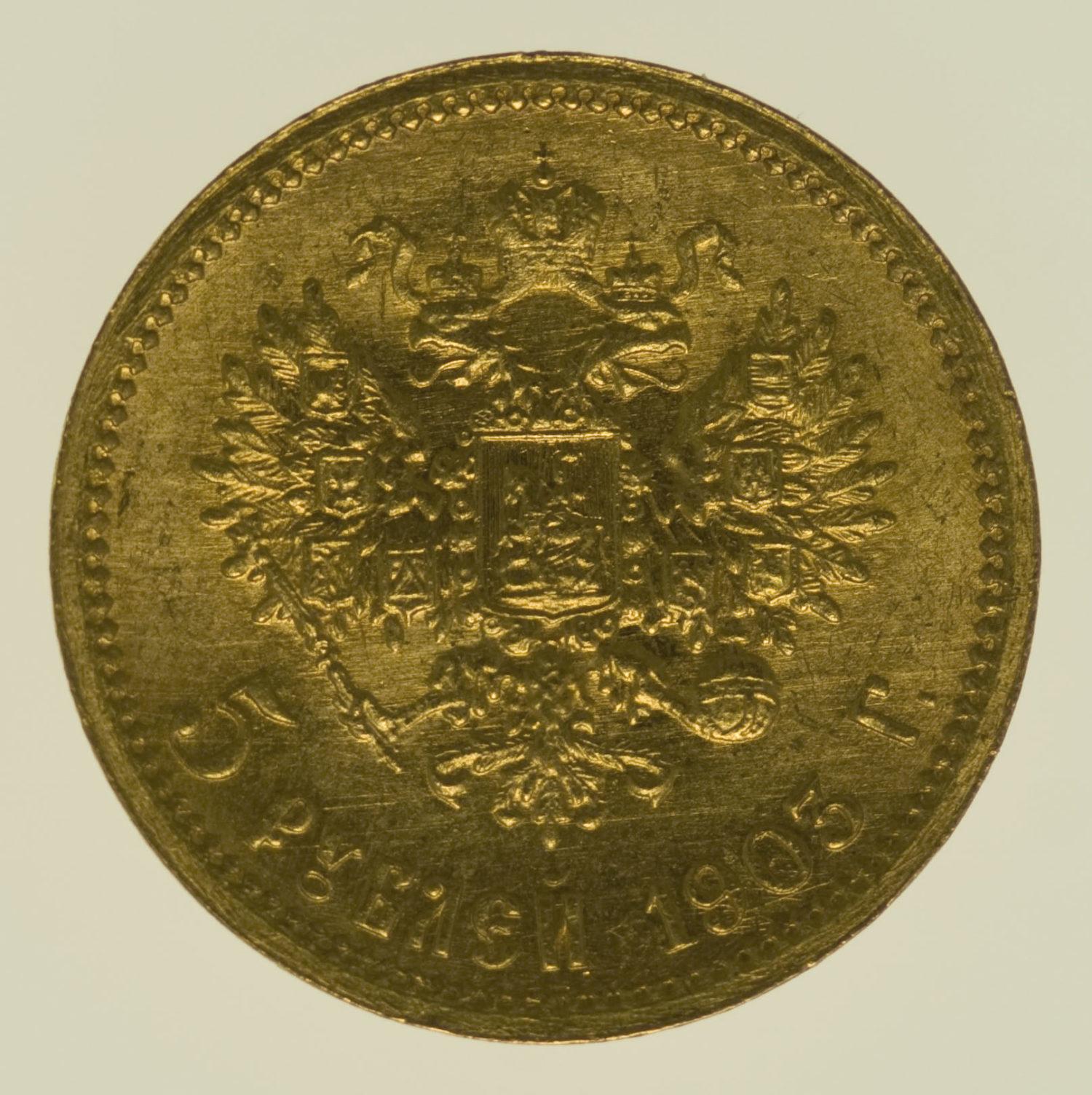 russland - RusslandNikolaus II. 5 Rubel 1903