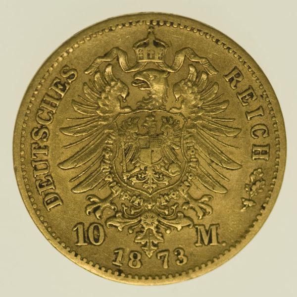 deutsches-kaiserreich-ab-1871 - Sachsen Johann 10 Mark 1873