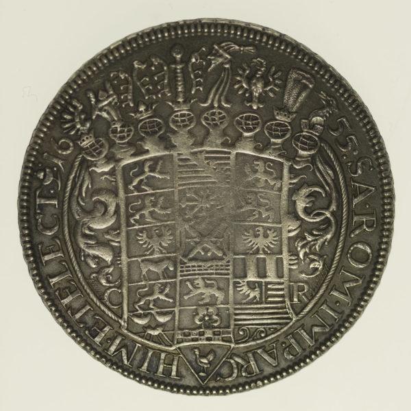 altdeutschland-deutsche-silbermuenzen - Sachsen Johann Georg I. Taler 1655 Lauer NP