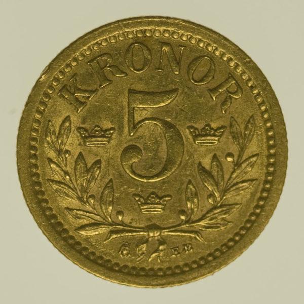 schweden - Schweden Oskar II. 5 Kronen 1899