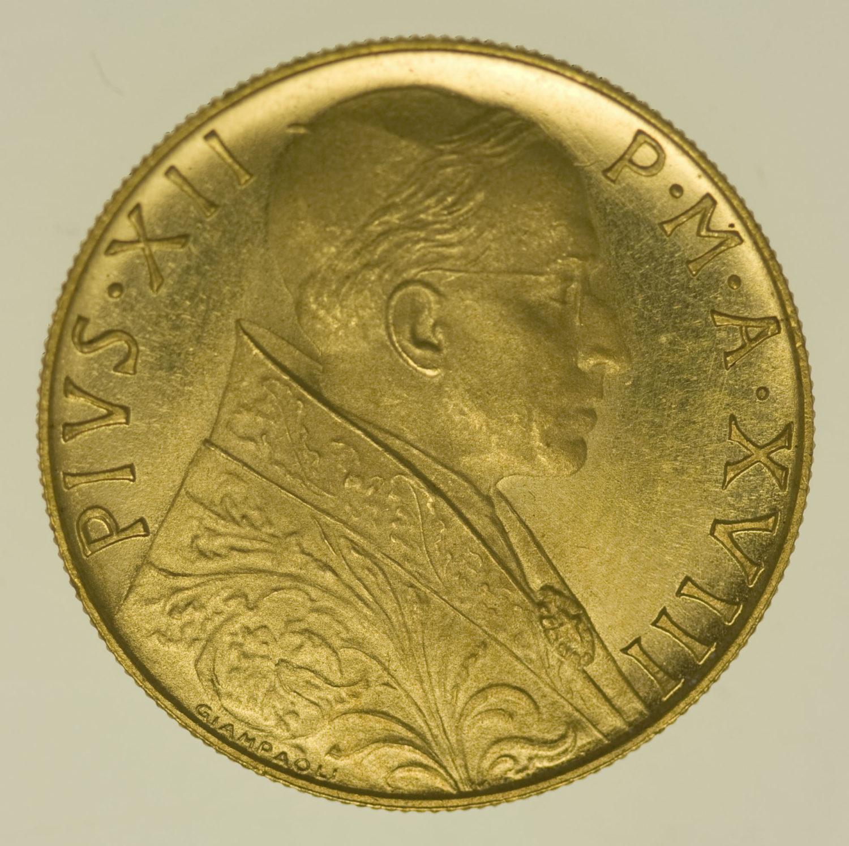 vatikan - Vatikan Pius XII. 100 Lire 1956