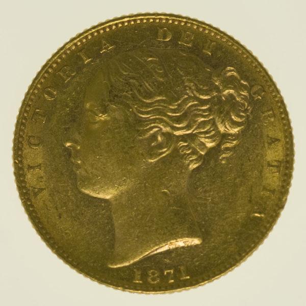 grossbritannien - Großbritannien Victoria Sovereign 1871