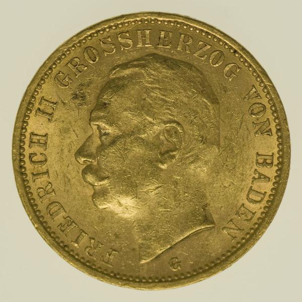deutsches-kaiserreich-ab-1871 - Baden Friedrich II. 20 Mark 1911