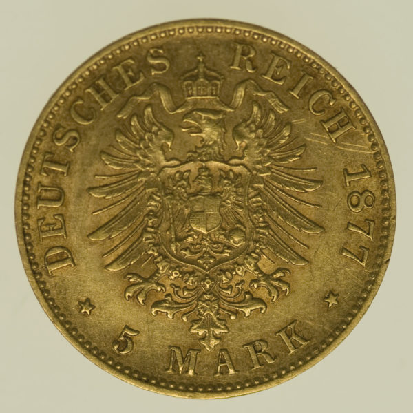 deutsches-kaiserreich-ab-1871 - Bayern Ludwig II. 5 Mark 1877